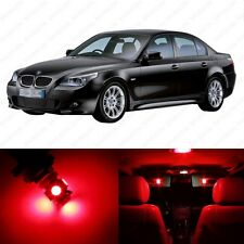17 x Red LED Interior Light Package For 2004 -2010 BMW 5 Series M5 E60 E61