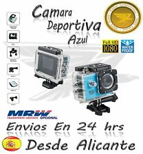 Video Camara Deportiva HD Action Camera  LCD Similar GoPro Azul 1080p