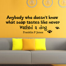 Wall Vinyl Decals Quote About Dogs Decal Pet Shop Grooming Salon Home Decor Z613