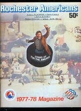 *1978 (Apr. 26) Rochester v. New Haven AHL minor league hockey playoff program