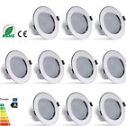 10X 21W Warm White LED Spot Light Round Recessed Ceiling Panel Downlight Lamp
