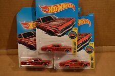 2016 Hot Wheels P Case x3 '65 Chevy Impala Art Car Lowrider Red Sweet 1:64