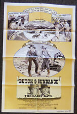 BUTCH AND SUNDANCE THE EARLY YEARS 1979 ORIG 1 SHEET MOVIE POSTER TOM BERENGER