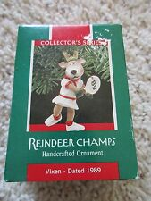 1989 Hallmark Reindeer Champs Vixen 4th  in series Ornament