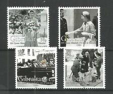 GIBRALTAR 2004 50TH ANNIV QUEENS VISIT SG,1078-1081 U/MM N/H LOT 1269A