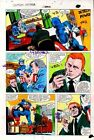 1981 Colan Captain America Annual 5 Marvel Comics color guide art page 19:1980's