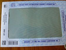 Microscale Decal HO  #87-390 UP Passenger Car Stripes - Two-Tone Grey Heavyweigh