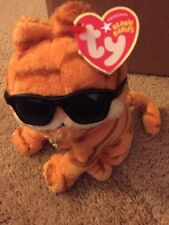 Garfield the Movie Cool Cat Ty Beanie Baby with Collar & Shades 2004 NWT