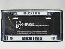 Boston Bruins Chrome Auto Tag Frame Metal Officially Licensed NHL Product NEW