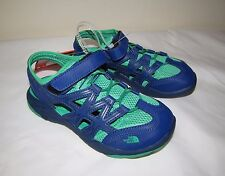 North Face Kids Boys Hedgefrog Sandal Shoes - size 3.0 - Blue/Green - NWT