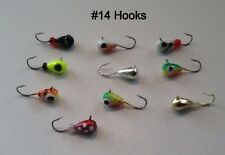 10 Tungsten Ice Jigs #14 Hook 4Mm Tungsten- 6 Glow