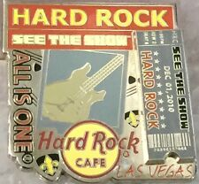 "Hard Rock Cafe LAS VEGAS STRIP 2010 ""SEE THE SHOW"" PIN-ON-PIN Ticket! HRC #58764"