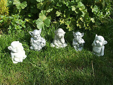 LATEX MOULD MOULDS MOLD.    5 PIECE GARDEN GARGOYLE SET. (2017)