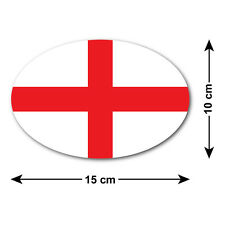 St George's Cross Car Sticker / Decal - National Flag of England - Oval 15x10 cm
