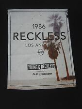 YOUNG & RECKLESS(Y&R) LOS ANGELES - JUMBO BEACH GRAPHIC - XL BLACK T-SHIRT E1512