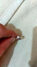 0.55 CARAT DIAMOND RING SOLITAIRE WHITE GOLD WEAR OR SCRAP