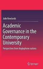 Academic Governance in the Contemporary University: Perspectives from...