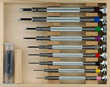Suissetek Complete 9 Piece Watchmakers Screwdriver Box Set  -  Made in France