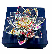 BEAUTIFUL CRYSTAL - LOTUS / KAMAL FLOWER - FENG SHUI / VASTU - LARGE