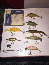 Old Fishing Lures Hot Shot Luhr Jenson River Runt Pylon Collectible Antique Bait