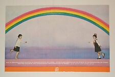 1969 Cuban OSPAAAL Political Poster.North Korea.Rainbow.Together.Cold War art