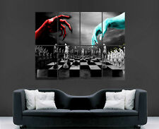 Chess match dieu vs diable poster wall art print evil heaven hell large géant