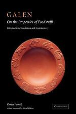 Galen: on the Properties of Foodstuffs by Galen (2007, Paperback)