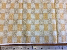 BEIGE, BROWN & GOLD MOSAIC TILE FABRIC- BY THE YARD