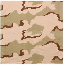 """biker camo bandana 27"""" x 27"""" various camouflage military cotton rothco 4347"""