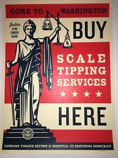 Shepard Fairey Scale Tipping  Signed Numbered OBEY Print Poster