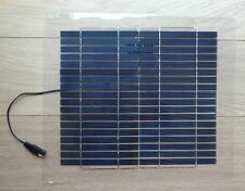 10w Semi Flexible Light Weight Solar Panel for Charging 12v battery - UK Stock