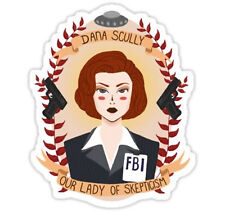 X-Files Dana Scully Patron Saint of Skepticism NEW Small Vinyl Sticker Decal