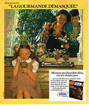 PUBLICITE ADVERTISING 064  1978  ALSA    la mousse au chocolat