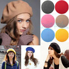 New Women Girls Winter Warm Soft Wool Cap French Berets Tam Beanie Slouch Hat