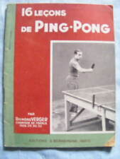 Raymond Verger 16 Leçons de Ping-Pong Editions Bornemann 1950