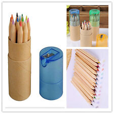 Child Colored Art Sketch Drawing Pencil with Pencil Sharpener 12 Piece New FA