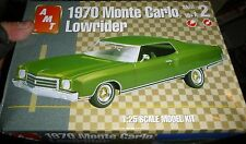 AMT 1970 CHEVY MONTE CARLO LOWRIDER GRNBX 1/25 Model Car Mountain KIT OPEN