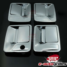 Triple Chrome 4 Door Handle Cover For 99-16 Ford Super Duty F250+F350F+F450+F550