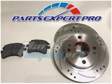 1998-2002 HONDA ACCORD FRONT DRILLED SLOTTED BRAKE ROTORS AND PADS 5 STUDS