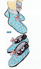 Felt Fabric SLIPPER Shoe Sewing Pattern Mail Order # 569 Vintage Boot Slippers