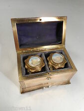 Antique French  Palais Royal Scent Bottles in Casket   ref 1677