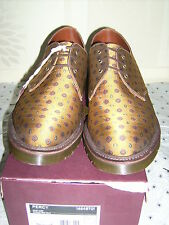 DR MARTENS AIRWAIR MADE IN ENGLAND. SIZE 11 -MUSTARD TIE- SILK PERCY SHOE -BNIB