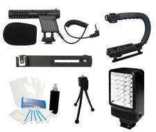 Starter Microphone Camcorder Kit for Canon GL1 GL2 XA20 XA25 XH A1 A1s G1