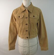 Old Navy Tan Corduroy Stretch Cropped Jacket Size M