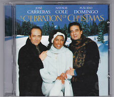 CARRERAS-COLE-DOMINGO - A CELEBRATION OF CHRISTMAS CD ALBUM 1996 TOP!