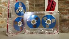 Blue Reel 2 Reel C60 blank cassette tape NEW to 2017 retro vintage look audio