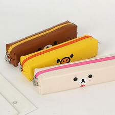 1x Cute Rilakkuma Simple&Slim Pencil Case Pen Bag School Stationery Supplies