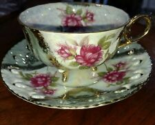 Vintage Lefton Tea Cup and Saucer Hand Painted 20583