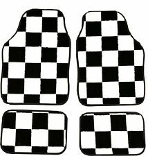 CHEQUERED RACING FLAG FULL CARPET FLOOR WELL MATS FOR ALL MERCEDES-BENZ