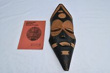 LOT VINTAGE AFRICAN TRIBAL ART MASK HAND CARVED w/ AFRICAN NEGRO SCULPTURE BOOK